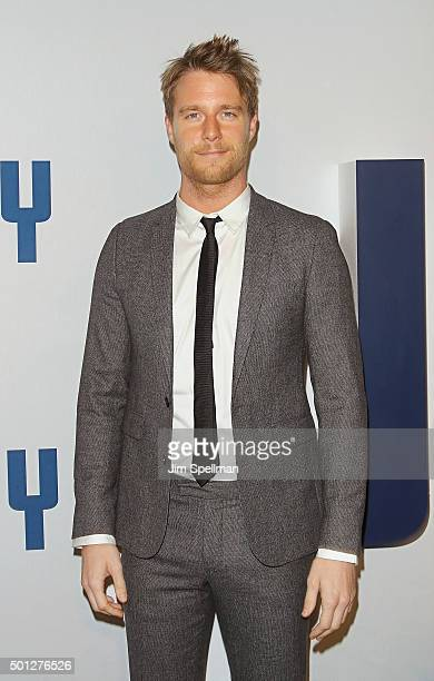 Actor Jake McDorman attends the 'Joy' New York premiere at Ziegfeld Theater on December 13 2015 in New York City