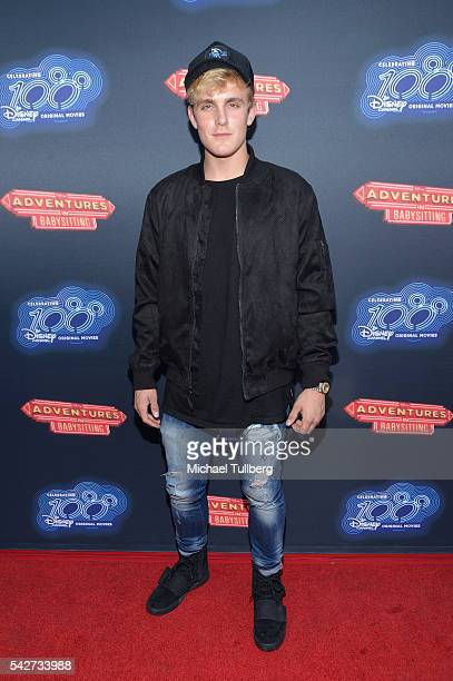 Actor Jake Paul attends the premiere of 100th Disney Channel's Original Movie 'Adventures In Babysitting' and celebration of all DCOMS at Directors...