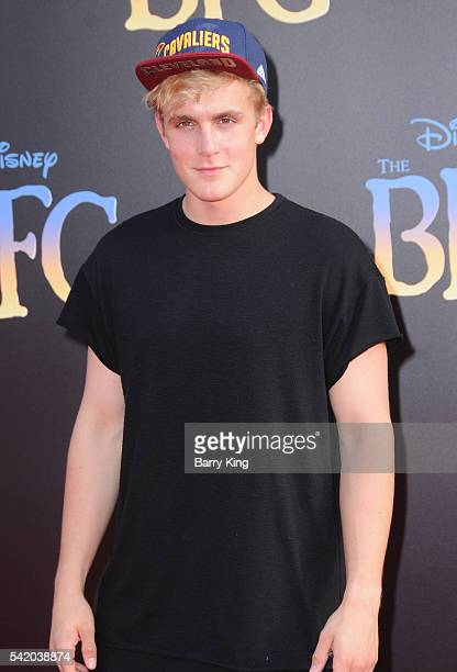 Actor Jake Paul attends the premiere of Disney's' 'The BFG' at the El Capitan Theatre on June 21 2016 in Hollywood California