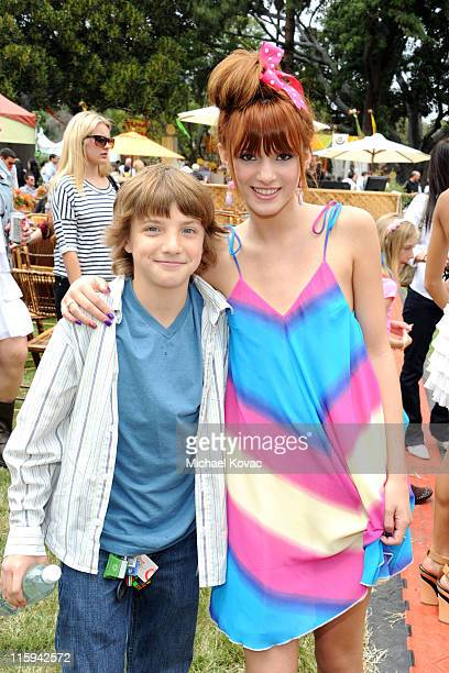Actor Jake Short and actress Bella Thorne attend the 22nd Annual Time for Heroes Celebrity Picnic sponsored by Disney to benefit the Elizabeth Glaser...