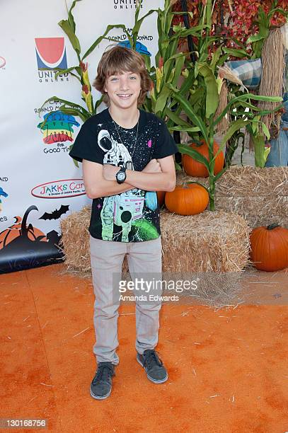 Actor Jake Short arrives at Camp Ronald McDonald For Good Times' 19th Annual Halloween Carnival at Universal Studios on October 23 2011 in Universal...