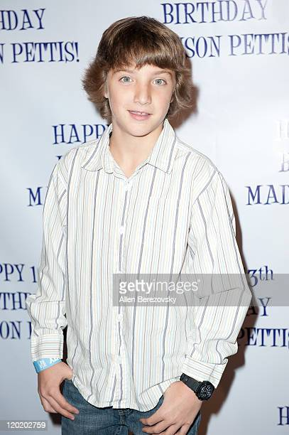 Actor Jake Short arrives at the Madison Pettis's 13th birthday party at Eden on July 31 2011 in Hollywood California