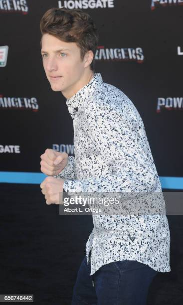 Actor Jake Short arrives for the Premiere Of Lionsgate's 'Power Rangers' held on March 22 2017 in Westwood California