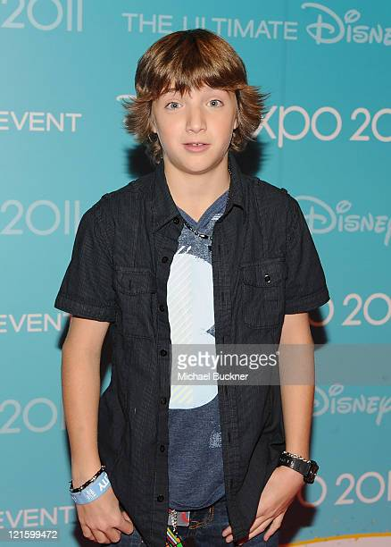 Actor Jake Short attends Day 2 of Disney's D23 Expo 2011 at the Anaheim Convention Center on August 20 2011 in Anaheim California
