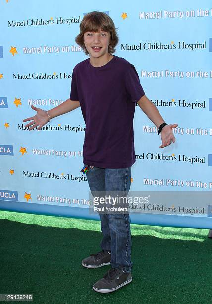 Actor Jake Short attends the Children's Hospital UCLA's 12th Annual 'Mattel Party On The Pier' at Santa Monica Pier on October 16 2011 in Santa...