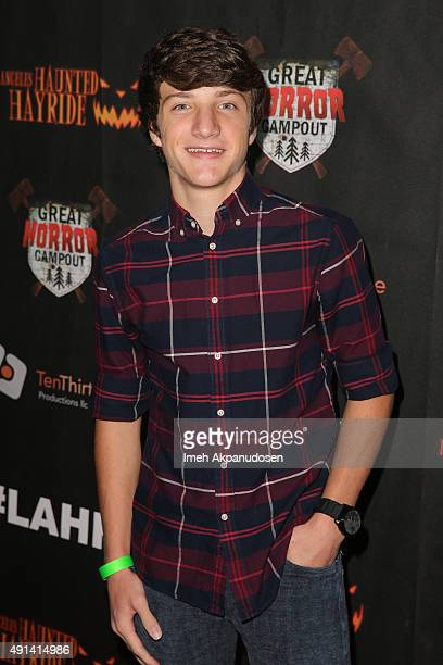 Actor Jake Short attends the LA Haunted Hayride's 7th Annual VIP Black Carpet Event at Griffith Park Zoo on October 4 2015 in Los Angeles California
