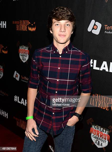 Actor Jake Short attends the Los Angeles Haunted Hayride Black Carpet Premiere Night in Griffith Park on October 4 2015 in Los Angeles California