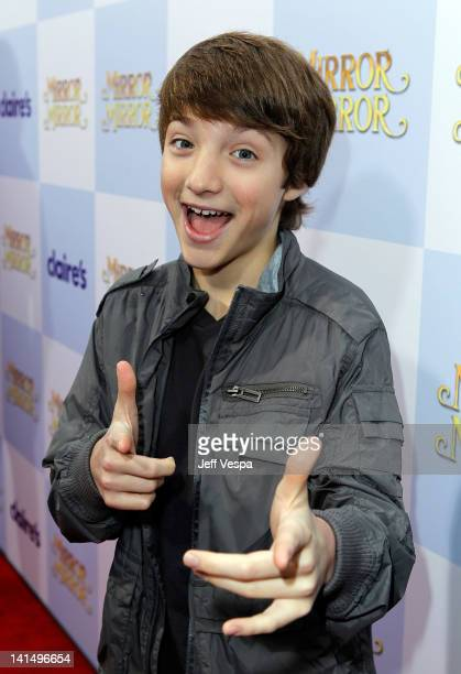 Actor Jake Short attends the 'Mirror Mirror' premiere at Grauman's Chinese Theatre on March 17 2012 in Hollywood California