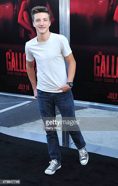 Actor Jake Short attends the Premiere Of New Line Cinema's 'The Gallows' at Hollywood High School on July 7 2015 in Los Angeles California