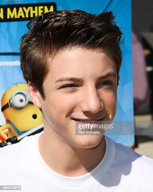 Actor Jake Short attends the the premiere of the new 3D Ultra HD digital animation adventure 'Despicable Me Minion Mayhem' at Universal Studios...