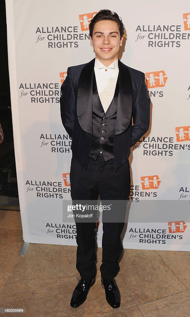 Actor <a gi-track='captionPersonalityLinkClicked' href=/galleries/search?phrase=Jake+T.+Austin&family=editorial&specificpeople=709221 ng-click='$event.stopPropagation()'>Jake T. Austin</a> arrives at The Alliance For Children's Rights 22nd Annual Dinner at The Beverly Hilton Hotel on April 7, 2014 in Beverly Hills, California.