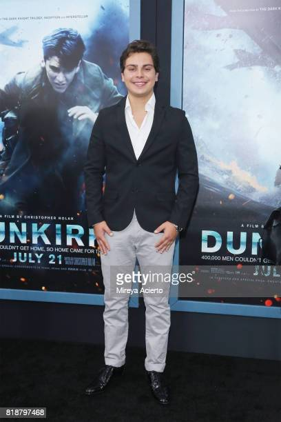 Actor Jake T Austin attends the 'DUNKIRK' New York Premiere on July 18 2017 in New York City
