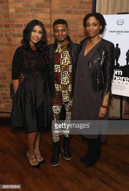 Actor Jamal MalloryMcCree and guest attends the Special Screening Of FilmRise's 'From Nowhere' at Tribeca Screening Room on February 13 2017 in New...