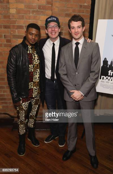 Actor Jamal MalloryMcCree Olli Haaskivi and AJ Shively attend the Special Screening Of FilmRise's 'From Nowhere' at Tribeca Screening Room on...