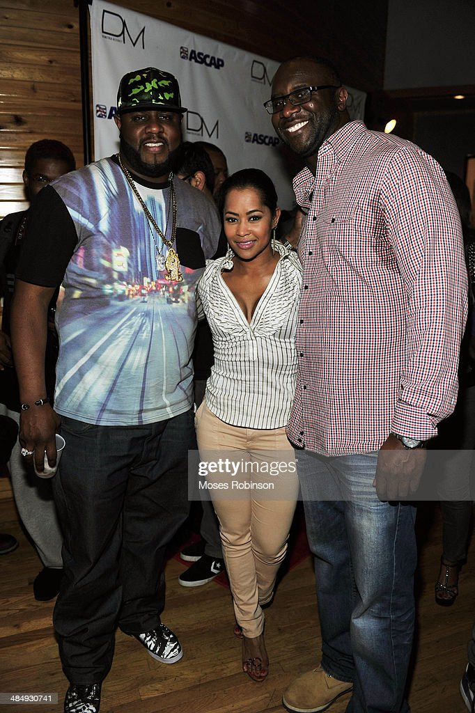 Actor Jamal Woolardactress Lisa Wu Hartwell and President and CEO of Bobbcat Films Roger Bobb attend Demetria McKinney's 'Officially Yours' Listening...