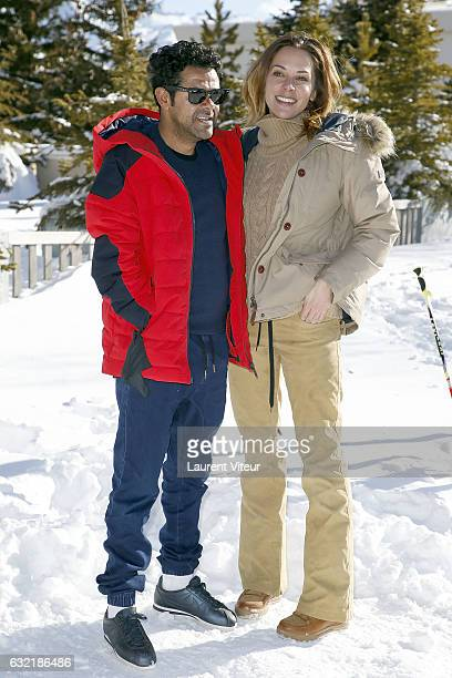 Actor Jamel Debbouze and his wife Journalist Melissa Theuriau attend 'L'Embarras du Choix' Photocall At Hotel Chamois d'Or on January 20 2017 in Alpe...