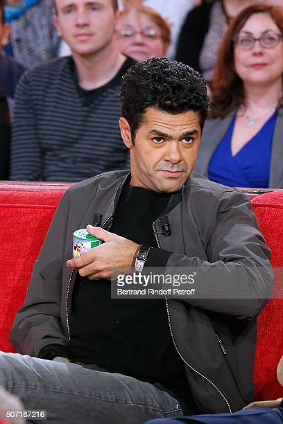 Actor Jamel Debbouze presents the Movie 'La Vache' during the 'Vivement Dimanche' French TV Show at Pavillon Gabriel on January 27 2016 in Paris...