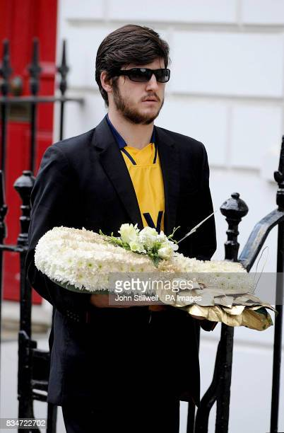 Actor James Alexandrou who played Martin Fowler in Eastenders at the funeral of Ben Kinsella at the St John's the Evangelist Roman Catholic Church...
