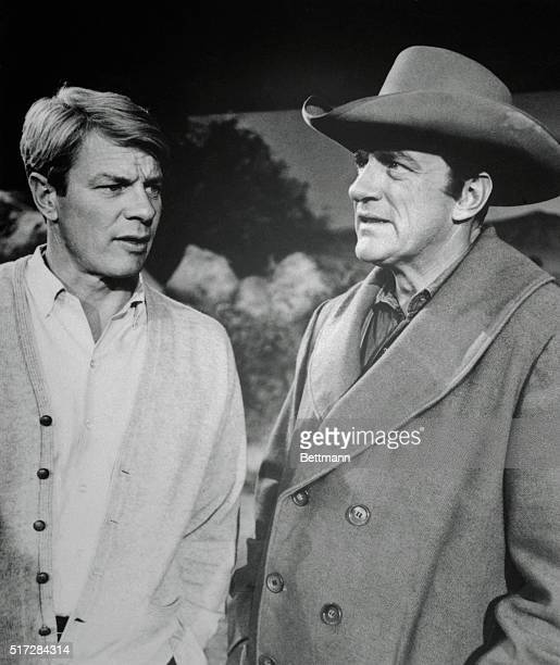 Actor James Arness with his brother actor Peter Graves