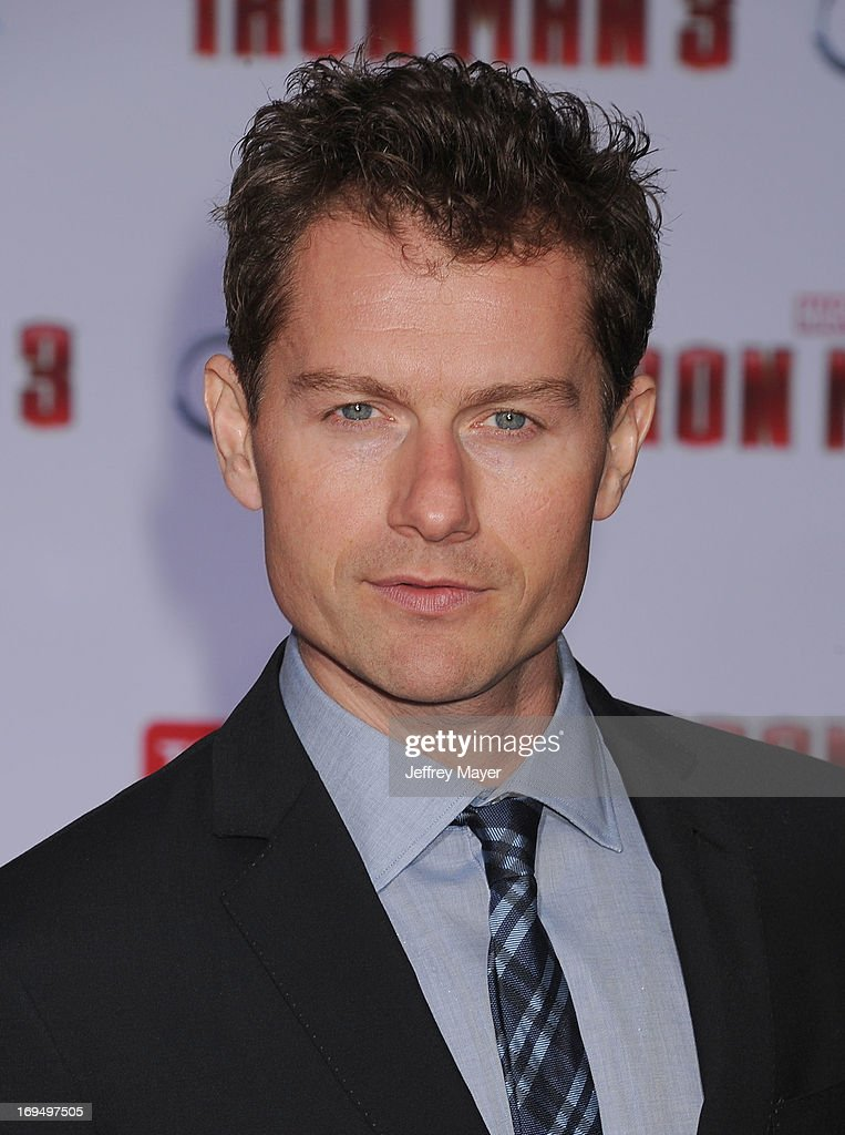 Actor James Badge Dale arrives at the Los Angeles Premiere of 'Iron Man 3' at the El Capitan Theatre on April 24 2013 in Hollywood California