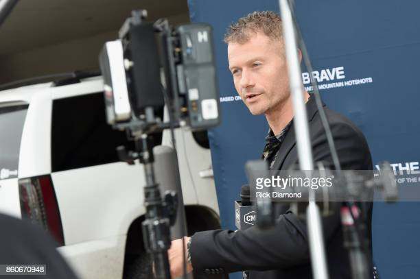 Actor James Badge Dale attends 'Only The Brave' Nashville screening hosted by Dierks Bentley at The Belcourt Theatre on October 12 2017 in Nashville...