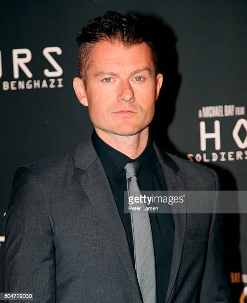 Actor James Badge Dale attends the Dallas Premiere of the Paramount Pictures film '13 Hours The Secret Soldiers of Benghazi' at the ATT Dallas...