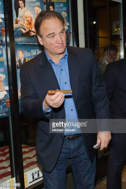Actor James Belushi attends the Creative Coalition and friends' celebration of the Broadway show 'Born Yesterday' at the Nat Sherman Flagship Store...