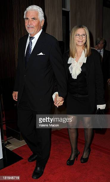 Actor James Brolin and actress/singer Barbara Streisand attend The CedarsSinai Board Of Governors Annual Gala at The Beverly Hilton hotel on November...