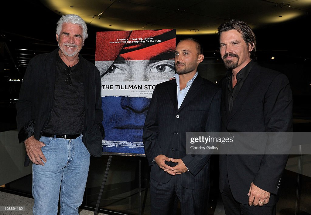 Actor <a gi-track='captionPersonalityLinkClicked' href=/galleries/search?phrase=James+Brolin&family=editorial&specificpeople=213029 ng-click='$event.stopPropagation()'>James Brolin</a>, director <a gi-track='captionPersonalityLinkClicked' href=/galleries/search?phrase=Amir+Bar-Lev&family=editorial&specificpeople=2351796 ng-click='$event.stopPropagation()'>Amir Bar-Lev</a> and actor <a gi-track='captionPersonalityLinkClicked' href=/galleries/search?phrase=Josh+Brolin&family=editorial&specificpeople=243198 ng-click='$event.stopPropagation()'>Josh Brolin</a> attend a special screening of The Weinstein Company's 'The Tillman Story' at the Pacific Design Center on August 12, 2010 in Los Angeles, California.