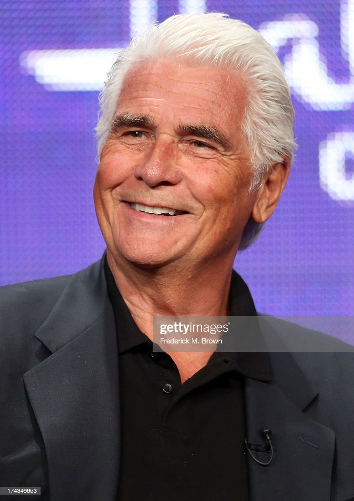 Actor James Brolin speaks onstage during the Christmas With Tucker panel at the Hallmark Channel and Hallmark Movie Channel portion of the 2013 Summer Television Critics Association tour at the Beverly Hilton Hotel on July 24, 2013 in Beverly Hills, California.