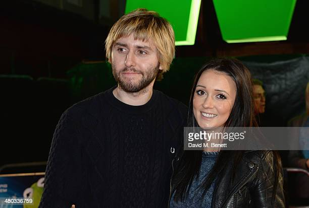 Actor James Buckley and Clair Meek attend the VIP screening of 'The Muppets Most Wanted' at The Curzon Mayfair on March 24 2014 in London England