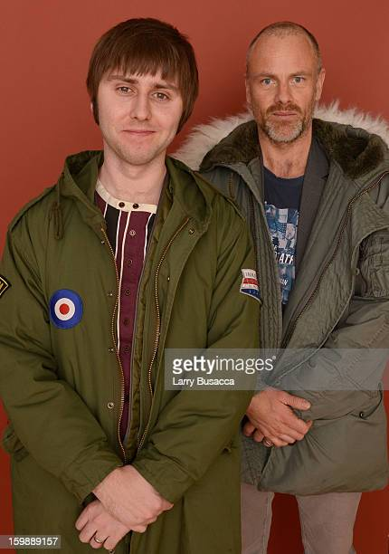 Actor James Buckley and director Fredrik Bond pose for a portrait during the 2013 Sundance Film Festival at the Getty Images Portrait Studio at...
