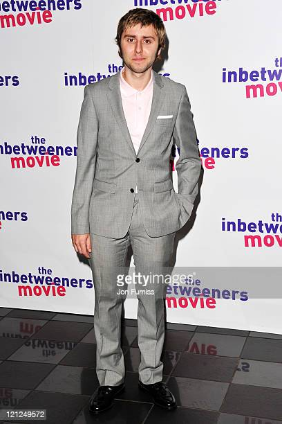 Actor James Buckley attends the Inbetweeners Movie world premiere at Vue Leicester Square on August 16 2011 in London England