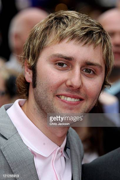 Actor James Buckley attends the world film premiere of The Inbetweeners Movie at Vue West End on August 16 2011 in London England