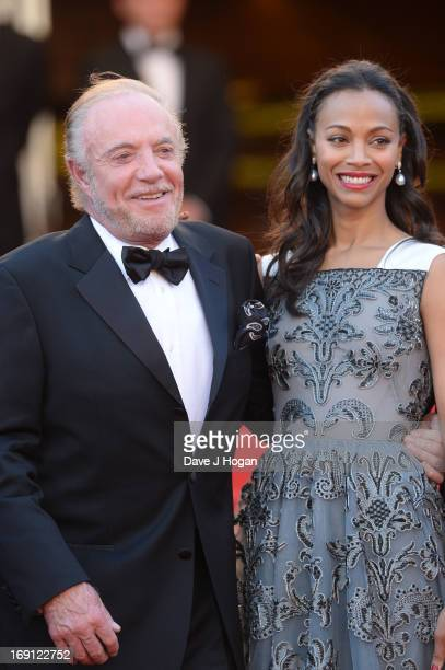 Actor James Caan and actress Zoe Saldana attend the 'Blood Ties' Premiere during the 66th Annual Cannes Film Festival at Grand Theatre Lumiere on May...
