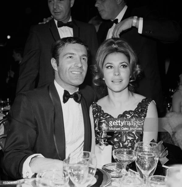 Actor James Caan with wife Dee Jay Mathis attend the Golden Globes in Los Angeles California