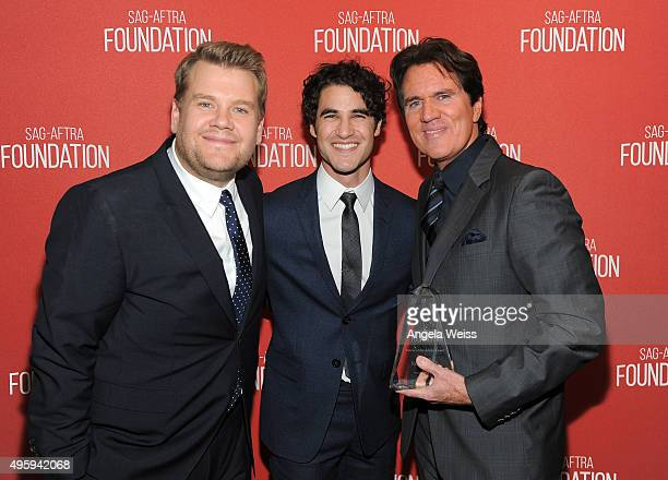 Actor James Corden actor/singer Darren Criss and honoree Rob Marshall attend the Screen Actors Guild Foundation 30th Anniversary Celebration at...