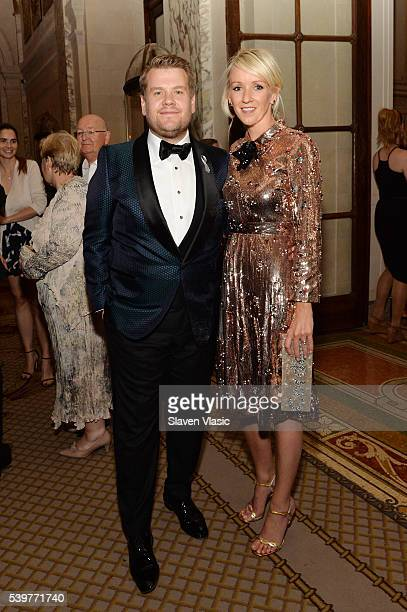Actor James Corden and producer Julia Carey attend the after party for the 2016 Tony Awards Gala presented by Porsche at the Plaza Hotel on June 12...