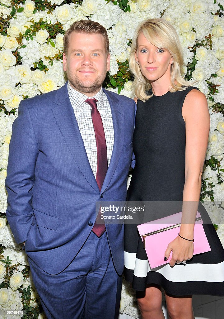 Actor James Corden and wife Julia Carey attend David And Victoria Beckham Along With Barneys New York Host A Dinner To Celebrate The Victoria Beckham...