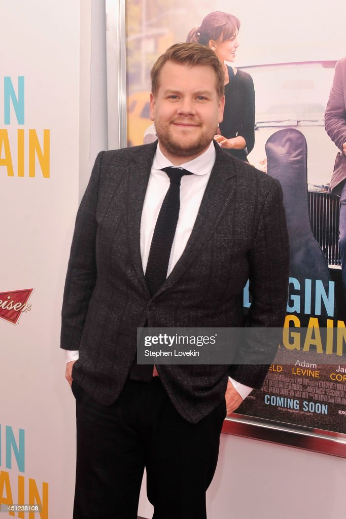 Actor <a gi-track='captionPersonalityLinkClicked' href=/galleries/search?phrase=James+Corden&family=editorial&specificpeople=673860 ng-click='$event.stopPropagation()'>James Corden</a> attends the New York premiere of the Weinstein company's BEGIN AGAIN, sponsored by Delta Airlines and Budweiser at SVA Theater on June 25, 2014 in New York City.