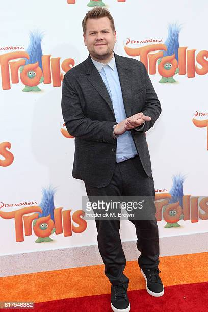 Actor James Corden attends the premiere of 20th Century Fox's 'Trolls' at Regency Village Theatre on October 23 2016 in Westwood California
