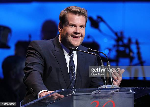 Actor James Corden speaks onstage during the Screen Actors Guild Foundation 30th Anniversary Celebration at Wallis Annenberg Center for the...