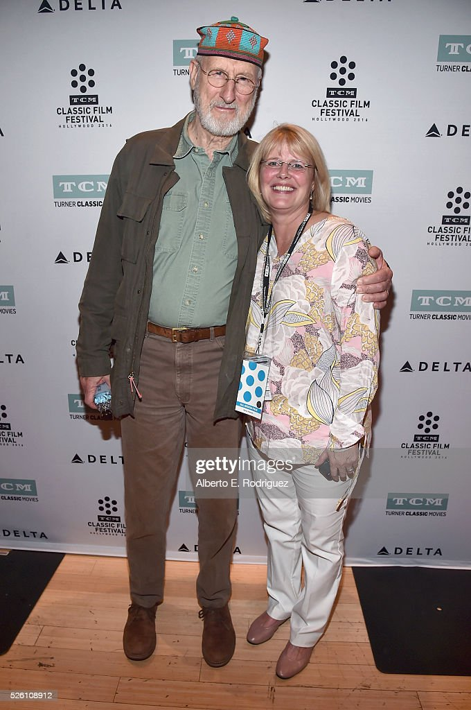 Actor <a gi-track='captionPersonalityLinkClicked' href=/galleries/search?phrase=James+Cromwell&family=editorial&specificpeople=211295 ng-click='$event.stopPropagation()'>James Cromwell</a> (L) and VP of Talent for TCM Darcy Hettrich attend 'Lassie Come Home' during day 2 of the TCM Classic Film Festival 2016 on April 29, 2016 in Los Angeles, California. 25826_006