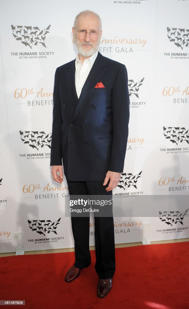 Actor <a gi-track='captionPersonalityLinkClicked' href=/galleries/search?phrase=James+Cromwell&family=editorial&specificpeople=211295 ng-click='$event.stopPropagation()'>James Cromwell</a> arrives at The Humane Society Of The United States 60th anniversary benefit gala at The Beverly Hilton Hotel on March 29, 2014 in Beverly Hills, California.