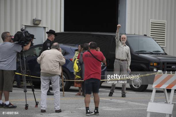 Actor James Cromwell seen outside the Orange County jail after turning himself in for his part in a protest outside the CPV Power Plant site on July...