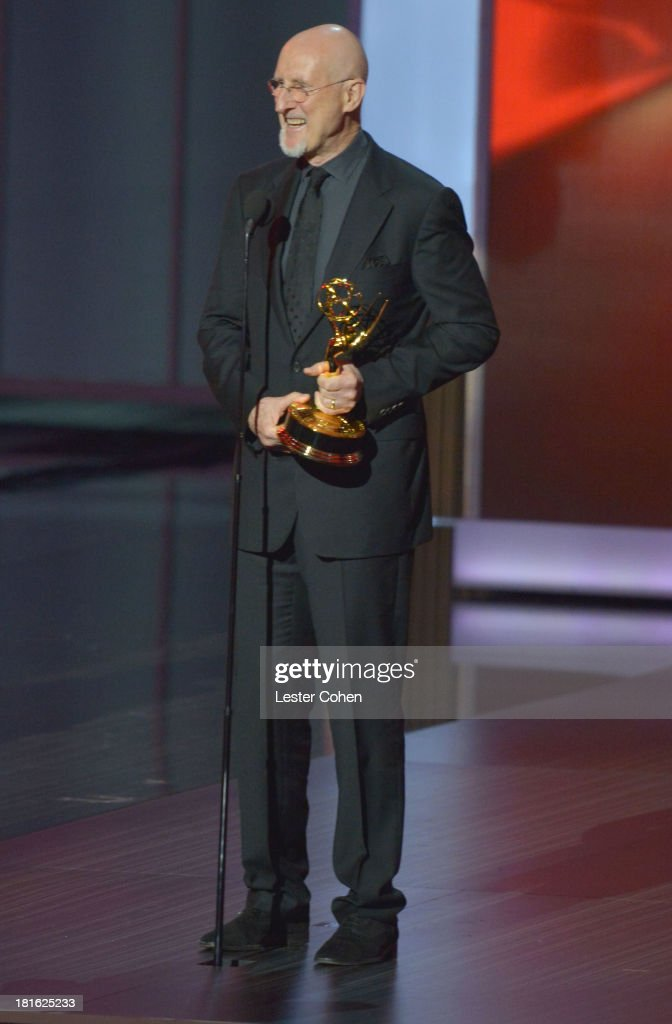 Actor James Cromwell speaks onstage during the 65th Annual Primetime Emmy Awards held at Nokia Theatre L.A. Live on September 22, 2013 in Los Angeles, California.