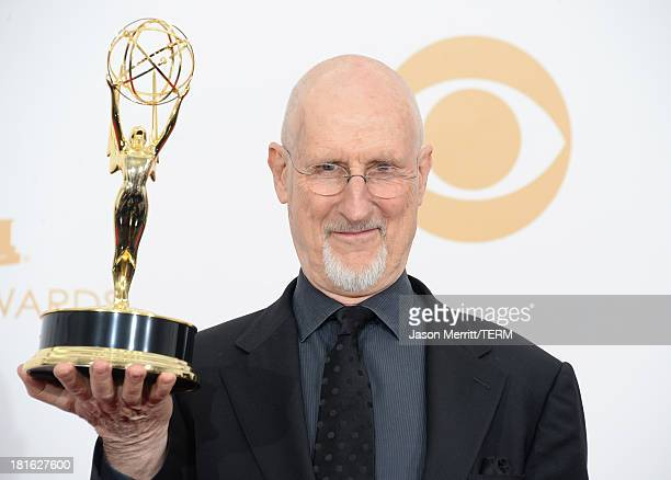Actor James Cromwell winner of Outstanding Supporting Actor in a Miniseries or Movie for 'American Horror Story Asylum' poses in the press room...