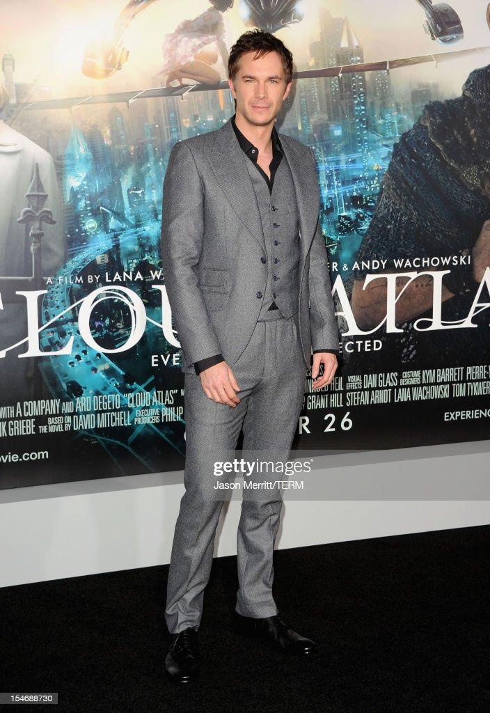 Actor <a gi-track='captionPersonalityLinkClicked' href=/galleries/search?phrase=James+D%27Arcy&family=editorial&specificpeople=228414 ng-click='$event.stopPropagation()'>James D'Arcy</a> arrives at Warner Bros. Pictures' 'Cloud Atlas' premiere at Grauman's Chinese Theatre on October 24, 2012 in Hollywood, California.