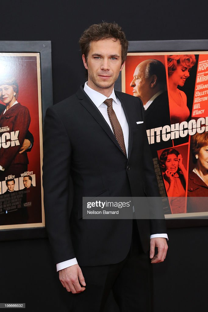 Actor <a gi-track='captionPersonalityLinkClicked' href=/galleries/search?phrase=James+D%27Arcy&family=editorial&specificpeople=228414 ng-click='$event.stopPropagation()'>James D'Arcy</a> attends the 'Hitchcock' New York Premiere at Ziegfeld Theater on November 18, 2012 in New York City.