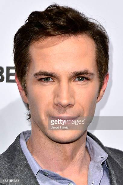 Actor James D'Arcy attends the premiere party for AE's Season 2 Of 'Bates Motel' series premiere of 'Those Who Kill' at Warwick on February 26 2014...